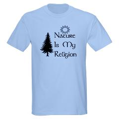 nature_is_my_religion_tshirt blue