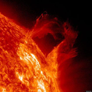 Sun eruption - from NASA SDO