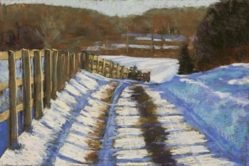 Farm Road in Snow - Jane Penfield