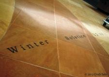 winter solstice - Farmington NM library floor
