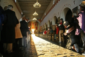 winter solstice - illumination at Mission San Juan