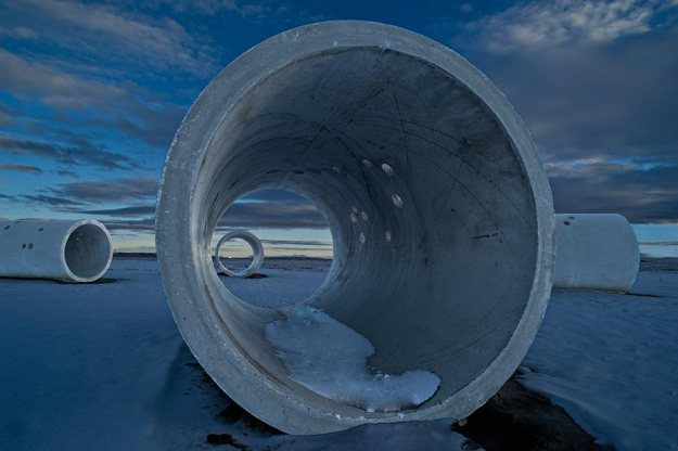 Winter solstice - SunTunnel - Nancy Holt