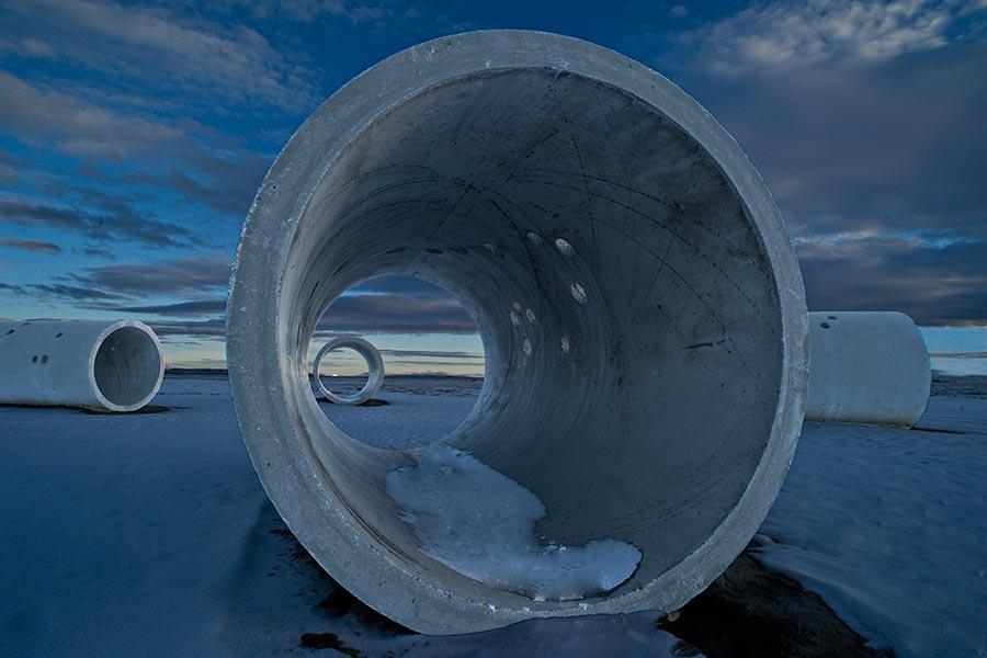 Winter solstice - SunTunnel - Nancy Holt